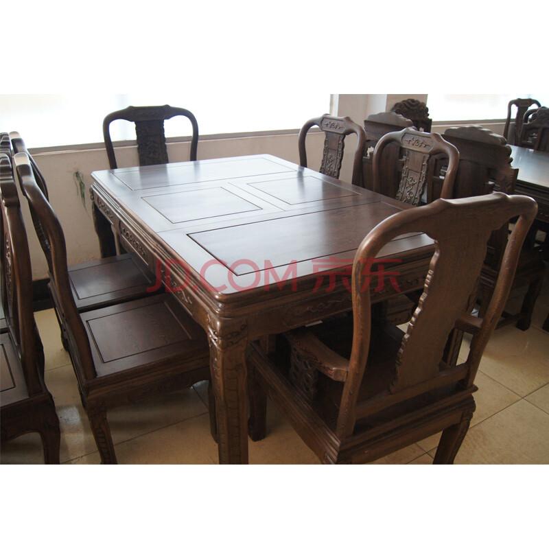 红木家具红木餐桌原木饭桌长方形拉台实木伸缩餐桌100