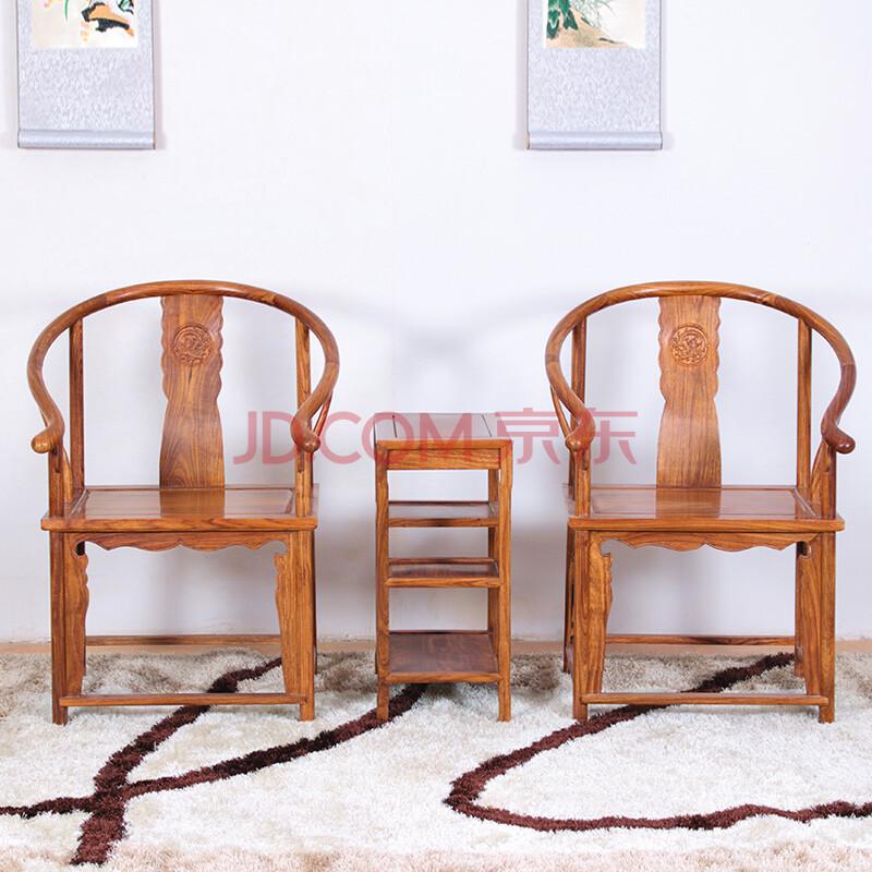 粤顺 红木休闲椅太师椅 红木家具实木靠椅子 客厅走廊