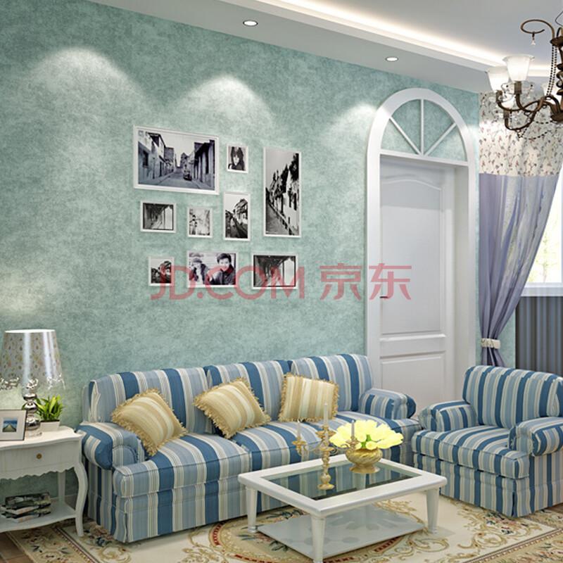 绿泇壁纸 客厅卧室沙发电视背景墙纸 美式田园无纺布碎花墙纸 纯色ab图片