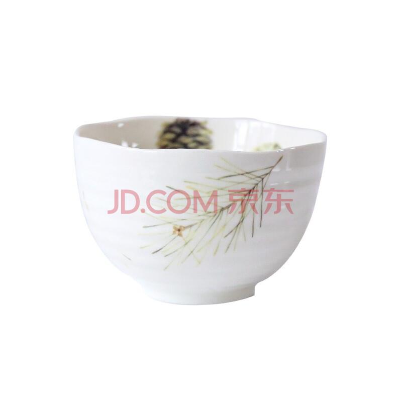 锦铭饭碗实果秋黄系列陶瓷手绘螺旋纹米饭碗4.7寸沙拉