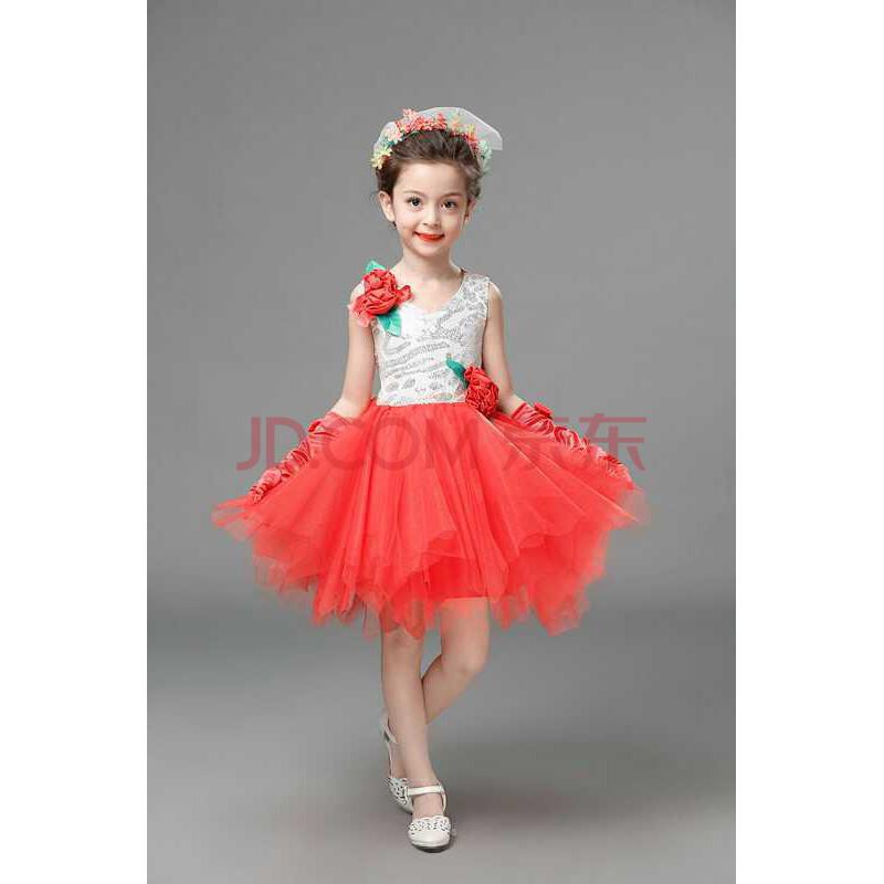 儿童舞蹈裙表演服装 女童可爱公主裙 蓬蓬裙 演出服童装 幼儿表演服