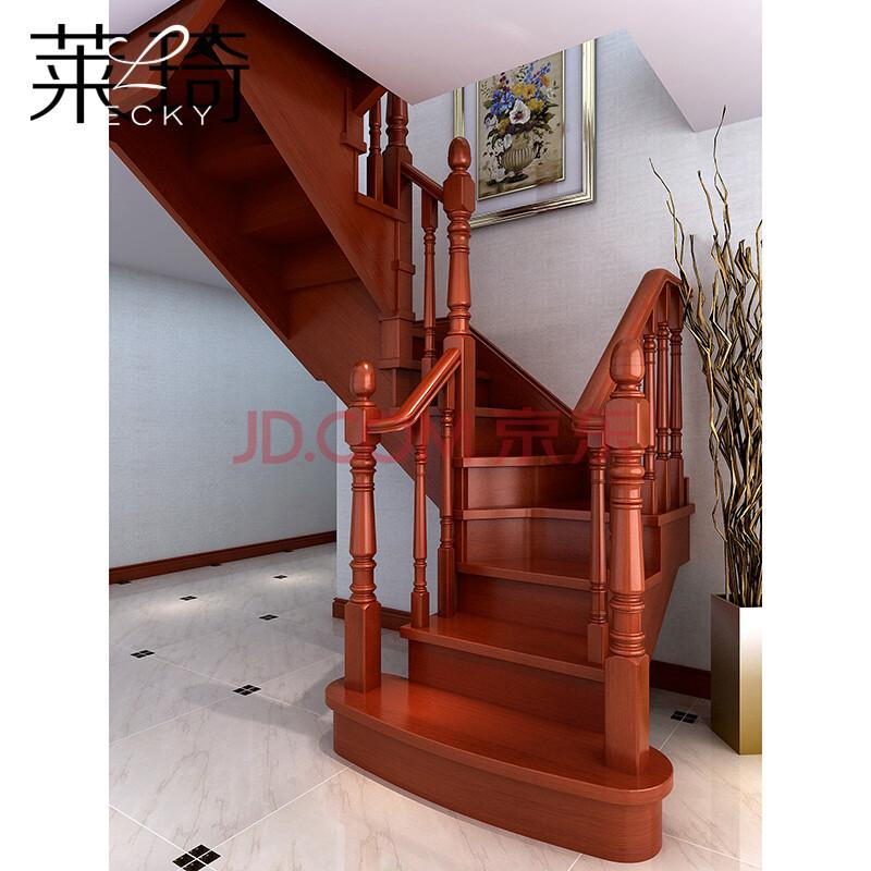 莱琦楼梯zt-sm0013实木扶手楼梯别墅室内传统爆款定做