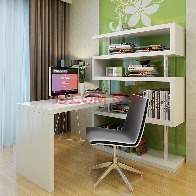 浩阿优 现代书房家具钢琴烤漆书桌 简约钢琴烤漆电脑桌 转角办公桌 sz