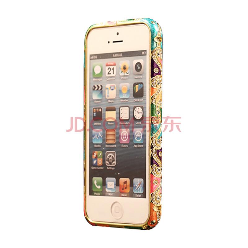 雪奈儿苹果瓦楞边框手机套v苹果壳适用于iphone5s/金属5s/iphone5七水钻板镀锌卷板图片