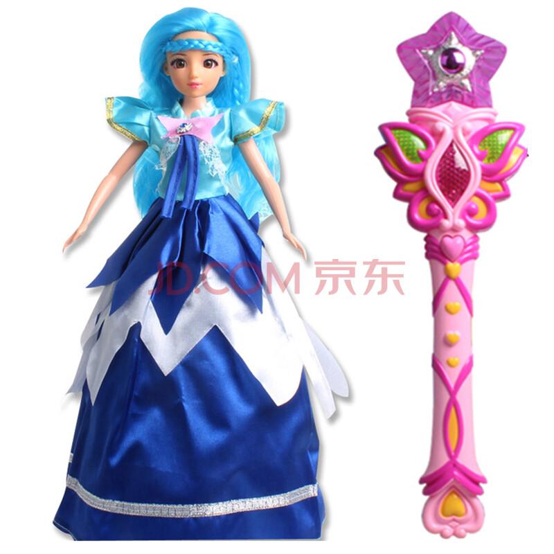 女孩玩具带皇冠魔法棒