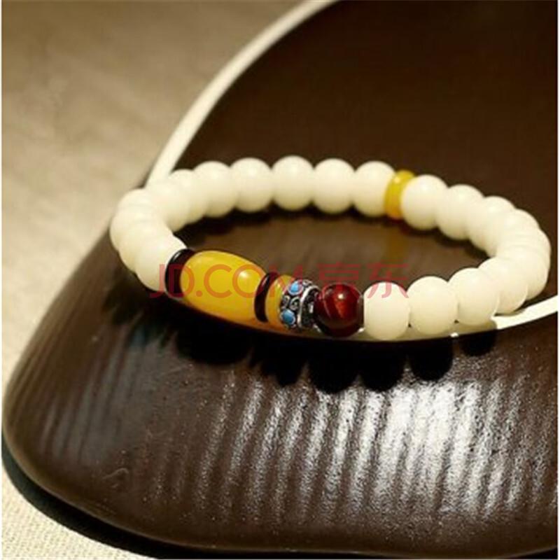 幸福嫁到 白玉菩提根单圈手串藏式民族风菩提子女士饰品手链图片
