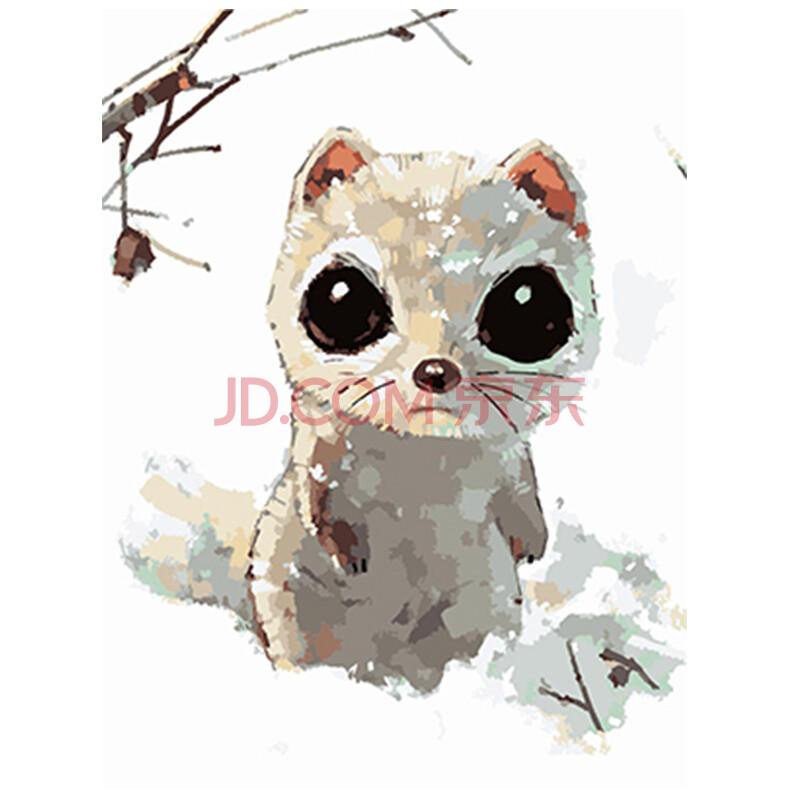 数字油画diy手绘卡通动漫动物装饰画