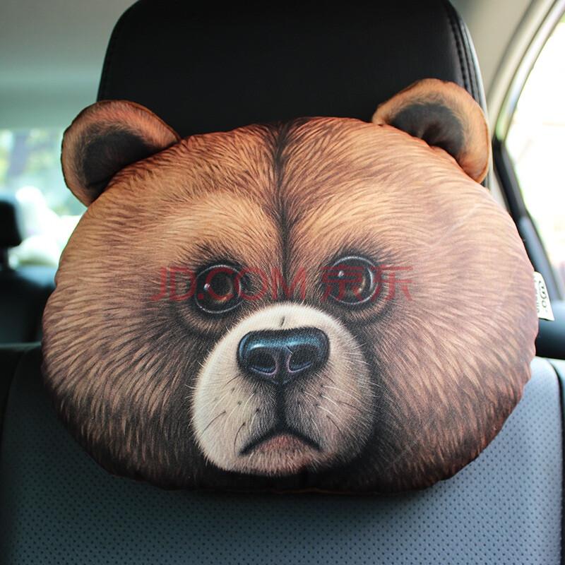 世品 汽车头枕3d哈士奇doge神烦狗二哈 卡通车用颈枕靠枕车载护颈枕头图片