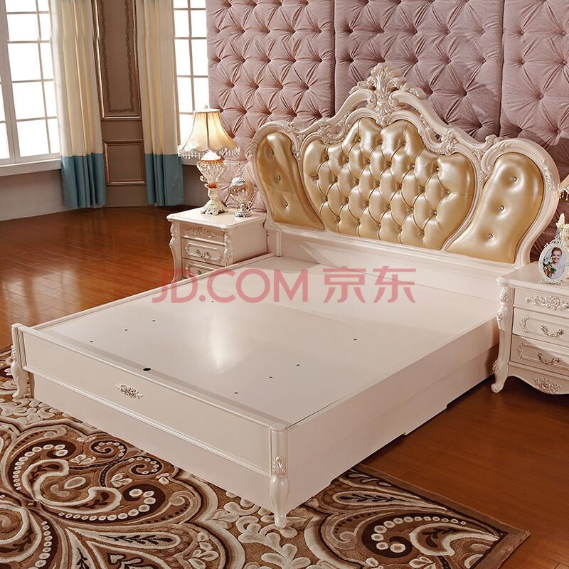 欧式床 卧室可储物高箱床图片