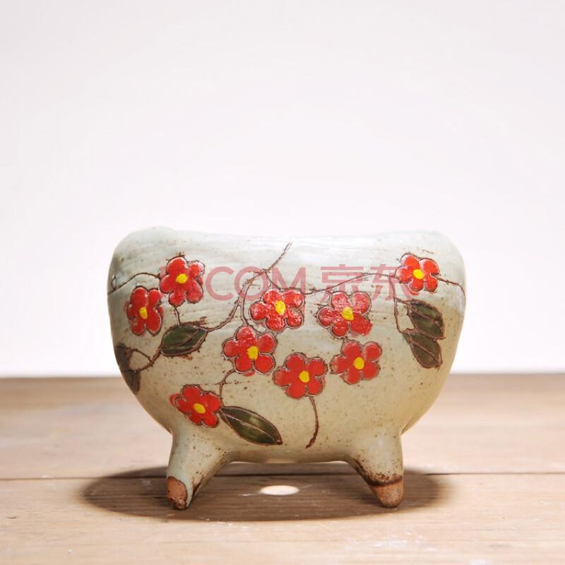 韩国手绘花盆