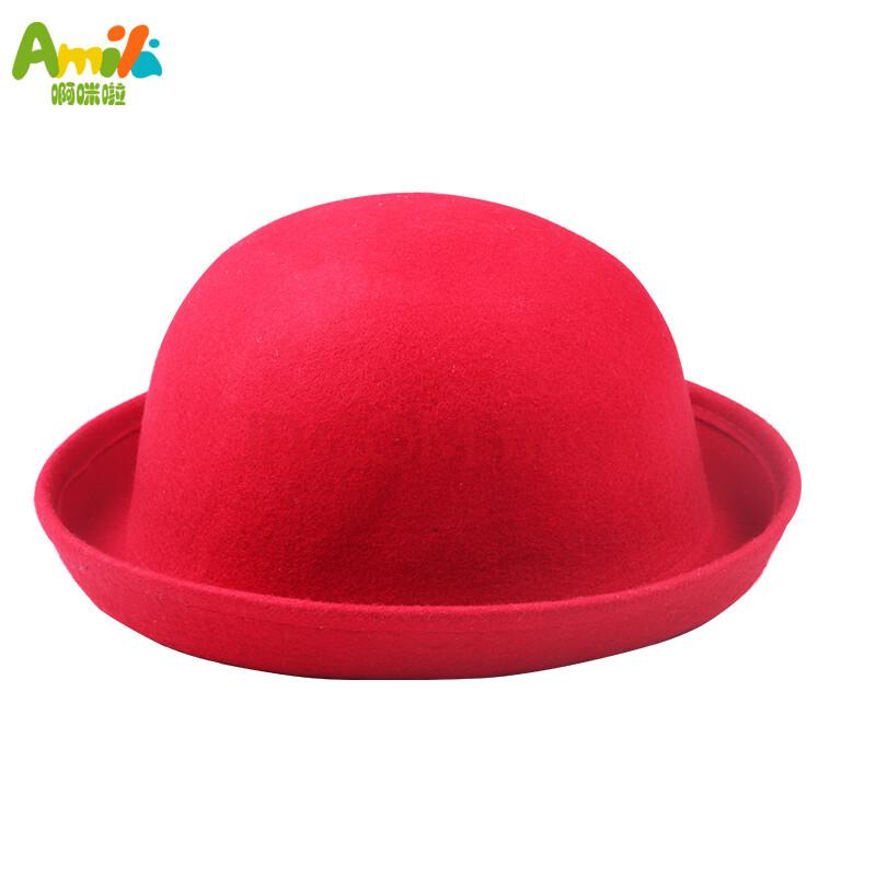 韩版儿童帽子秋冬款女童礼帽童装公主帽女童圆顶帽