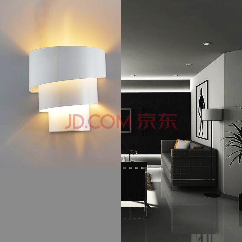 led卧室客厅餐厅现代简约单头铁艺壁灯圆形楼梯过道走廊墙壁灯饰灯具图片