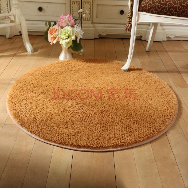 白云 圆形地毯 地垫客厅卧室书房茶几地毯丝毛地毯 茶色