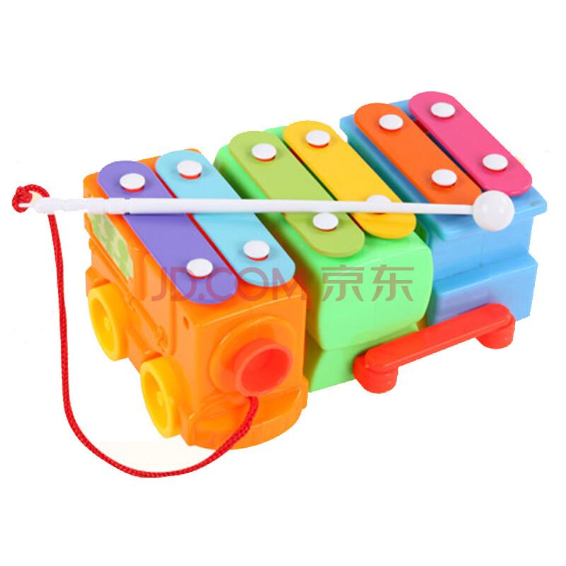 贝恩施婴幼儿手敲琴 宝宝欢乐小木琴八音儿童玩具1-3岁早教益智敲