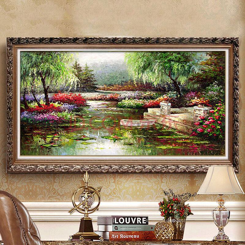 欧式客厅油画美式风景壁画简欧别墅卧室餐厅装饰画沙发背景墙挂画 15图片