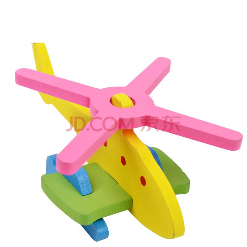 3d立体木制飞机盒装拼图益智玩具儿童教育拼插积木lk613yz 1
