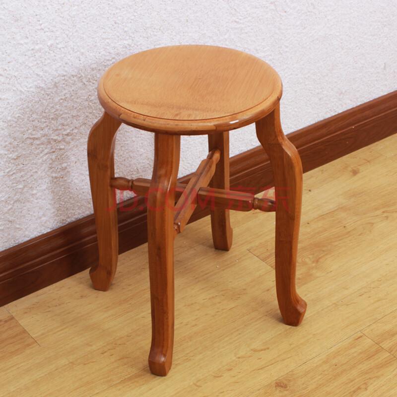 竹木年华 实木小凳子圆凳时尚简约餐桌餐凳家用木凳楠竹创意板凳图片