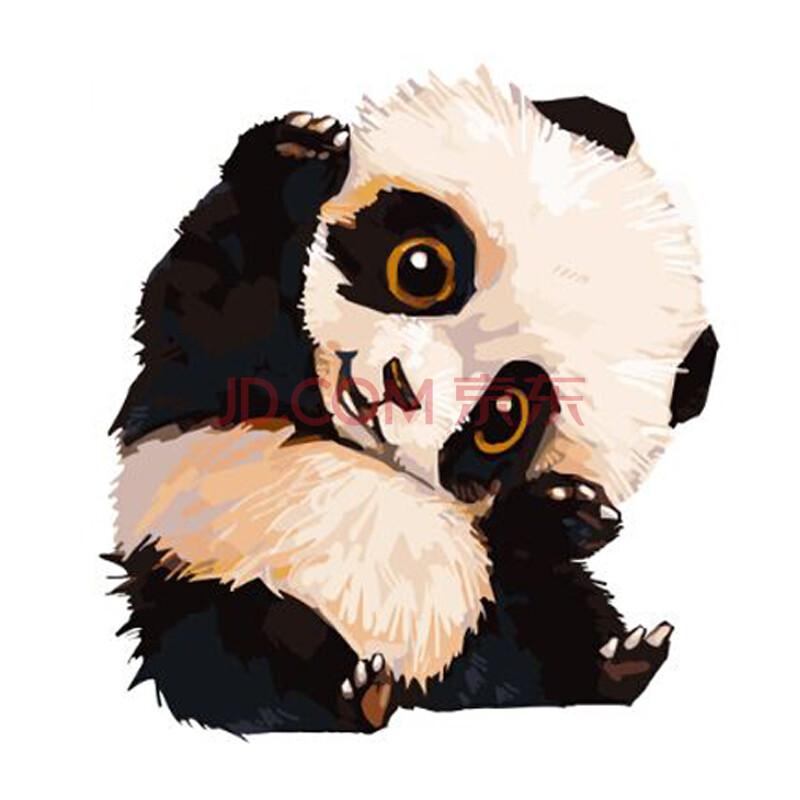 佳彩天颜 数字油画diy手绘卡通动漫动物装饰画 手工填色画绑好内框 小