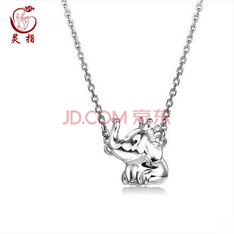 甜美可爱小动物银饰品925银小象项链