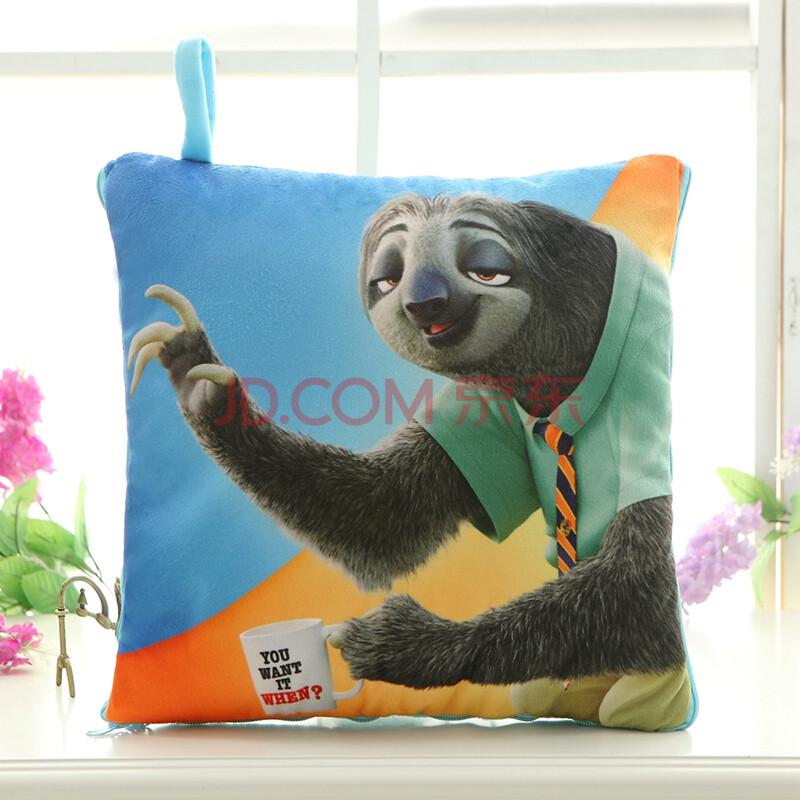 机灵熊 疯狂动物城公仔zootopia朱迪兔子尼克抱枕空调