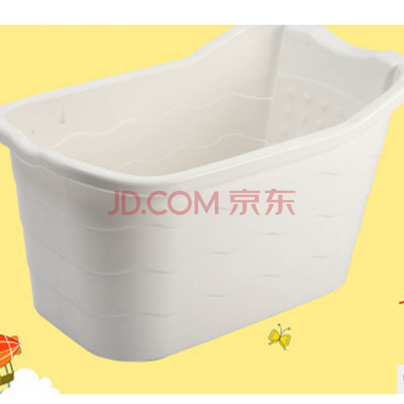 大号儿童健康泡澡浴桶塑料洗澡桶浴盆洗澡盆可坐木