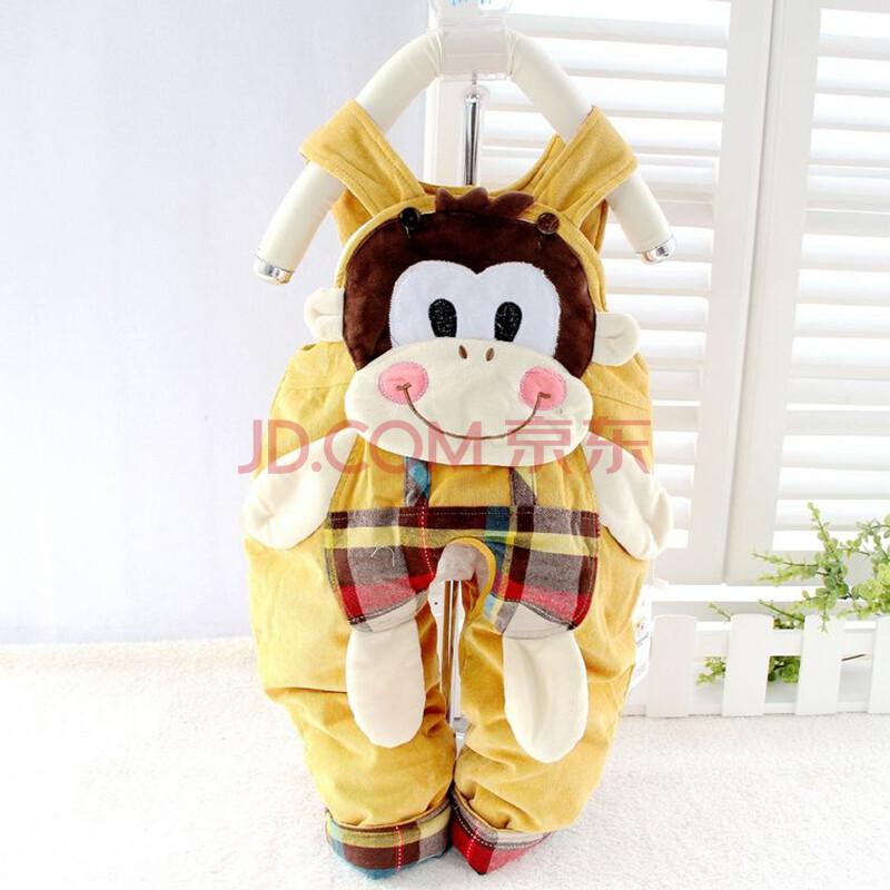 超萌超可爱 15冬款 猴子灯芯绒宝宝背带棉裤 新款热销冬季婴儿背带