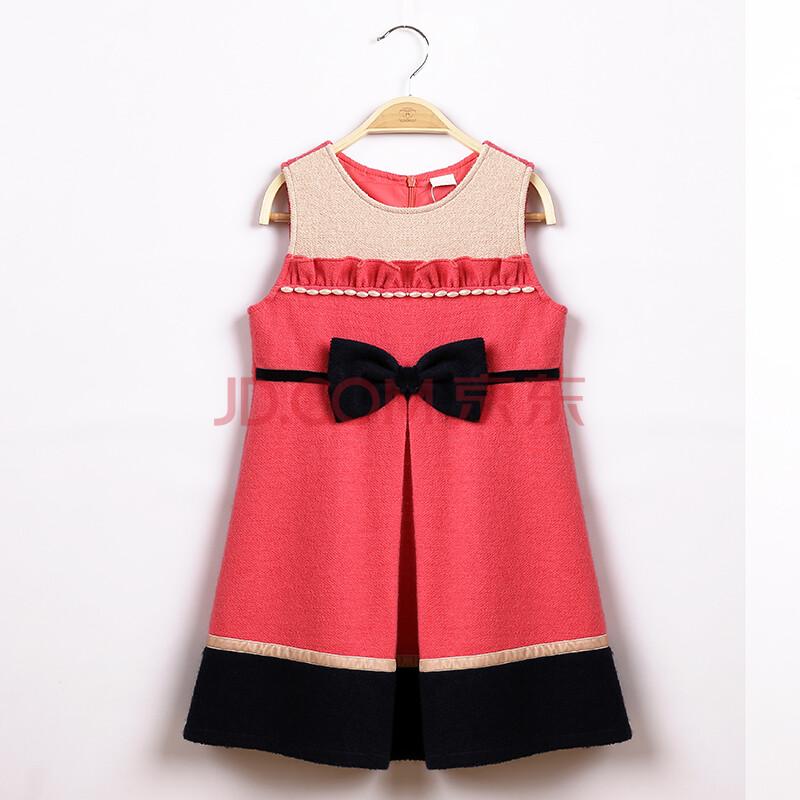 儿童秋冬连衣裙羊毛呢