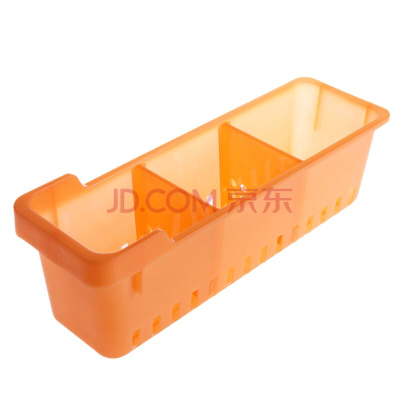 继红 环保pp冰箱储物收纳盒 可拆卸分隔多功能桌面杂物收纳盒 橙色图片