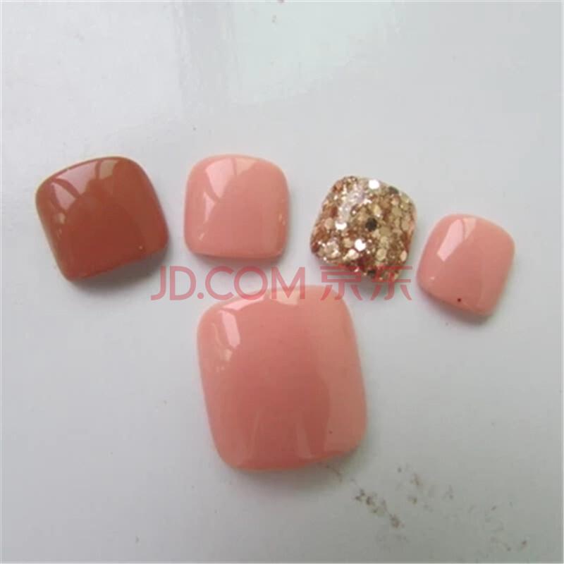 日系奢华酒红灰色手指甲美甲成品贴 结婚新娘 假脚指甲 美甲光疗甲图片
