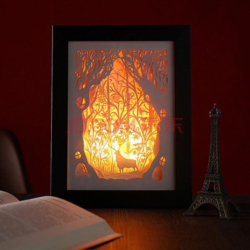 纸雕灯剪影装饰氛围灯创意