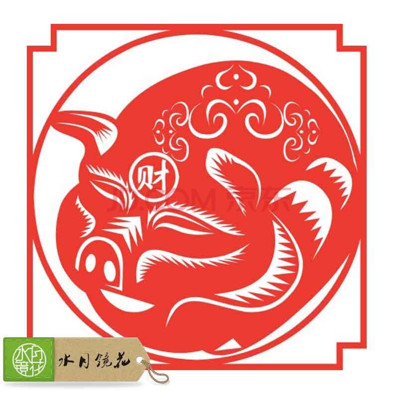 春节年画剪纸画