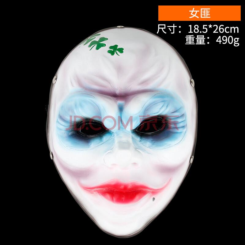 女生全脸面具手绘