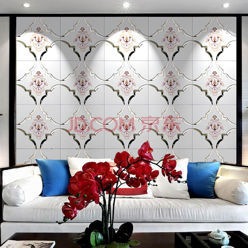 沙发卧室床头玄关硬装刺绣花镜片隐形门装饰墙049图片