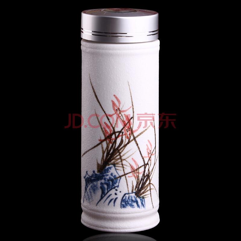 苗苗红 创意手绘陶瓷保温杯 礼品杯移动车载男士女士水杯子 zz 白色