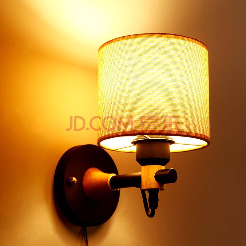 恒佳灯饰 创意个性壁灯 美式设计师温馨卧室床头灯过道阳台木灯 b1369