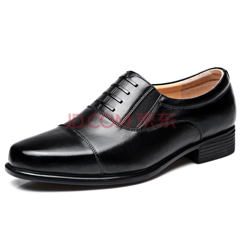 强人 CF-07B1 正装鞋男三接头07校尉皮鞋套脚商务男鞋配发军鞋 黑色 40码