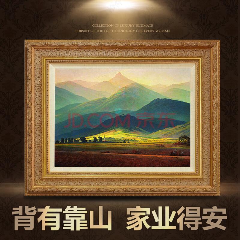 欧式风景油画客厅玄关挂画沙发背景墙画有框图片