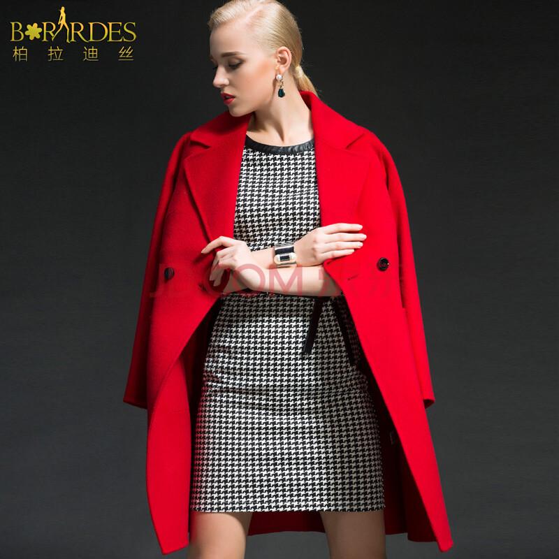 柏拉迪丝时尚女装高端大气2014奶奶秋冬装新款欧美长