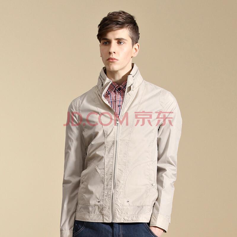 gxg1978男装2014新款秋装男士潮流时尚修身夹克外套#21621039 米色 s