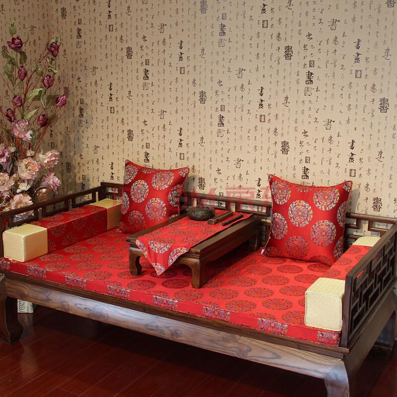 明清古典中式罗汉床垫子/红木沙发坐垫/实木沙发垫/婚庆/木沙发垫