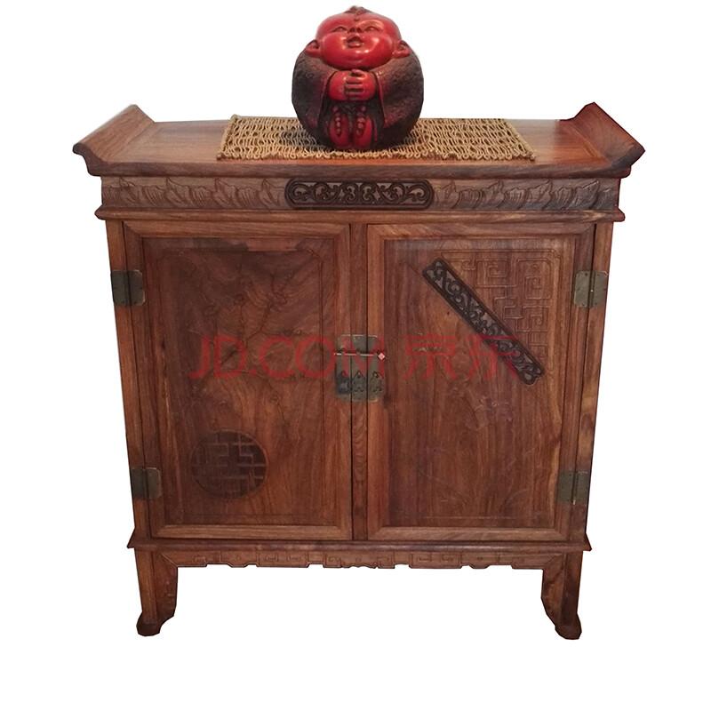 龙上龙新中式梅兰翘头小供桌佛龛非洲花梨木储物柜雕花客厅储物置物柜