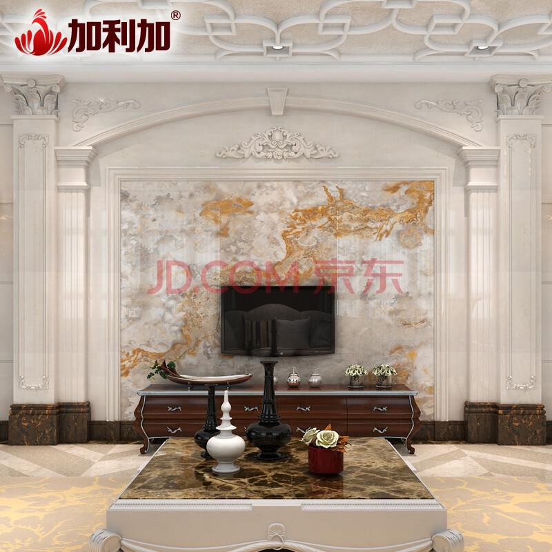 加利加 仿大理石罗马柱 瓷砖背景墙搭配罗马柱欧式电视边框线条 双柱图片