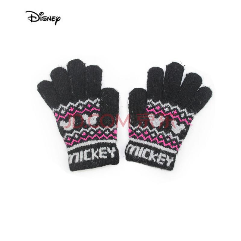 disney迪士尼手套 儿童手套 宝宝手套 针织手套 米奇五指手套fts0808