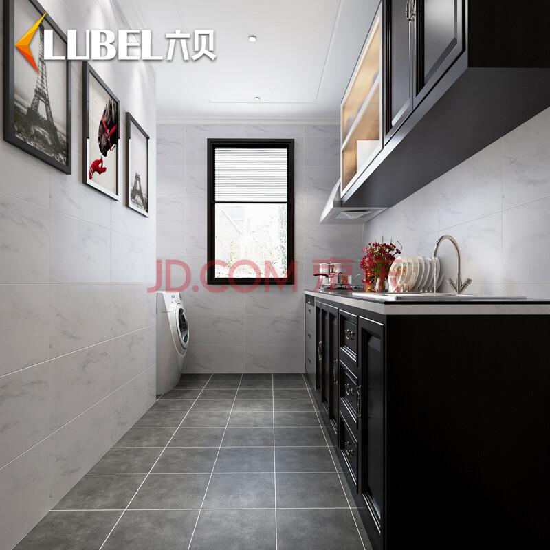 六贝瓷砖 爵士白厨房瓷砖美式墙砖300 600卫生间地砖仿古砖浴室洗手间