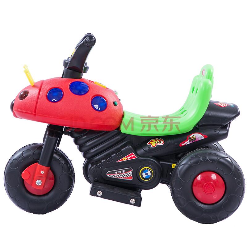 儿童电动车摩托车三轮车宝宝电动甲壳虫儿童玩具车可坐人 自动双驱