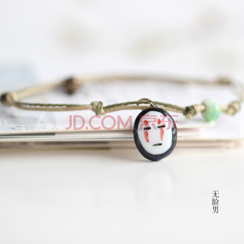 日韩可爱手绘小清新陶瓷手链创意时尚小饰品 无脸男