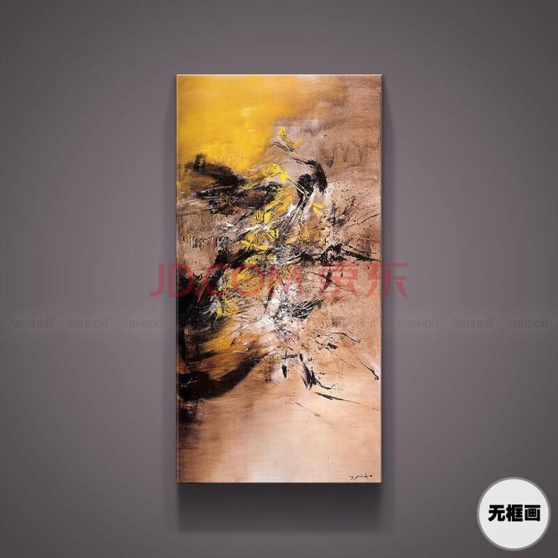 玄关沙发背景墙装饰画现代简约客厅赵无极抽象油画创意手绘无框画 无