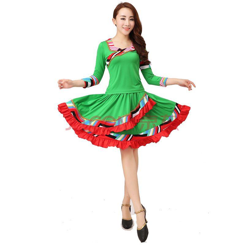 广场舞服装舞蹈服秋季套装长袖裙裤子中老年民族风舞蹈表演演出服套装图片