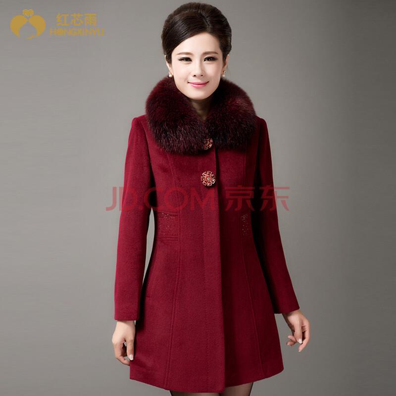 暗红色大衣怎么搭配
