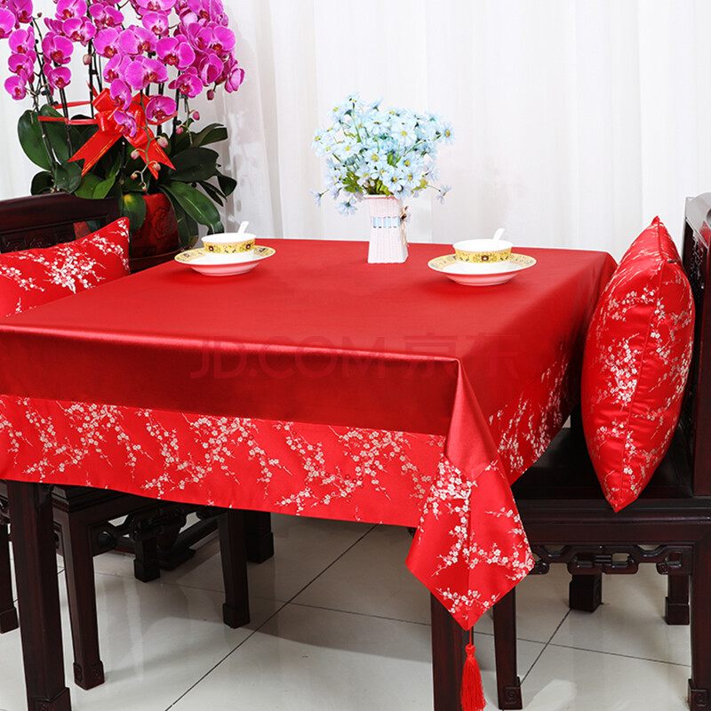 桌旗桌布椅套布艺餐桌布台布茶几布桌旗方桌布台布盖布可定制 彩富贵